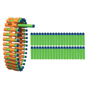 V-Twin Refill Pack with a 30-Round Belt & 40 Foam Waffle Tip Darts